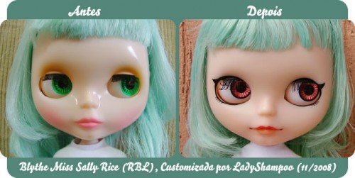 Customizao da minha Blythe, o Antes e Depois.
